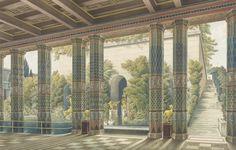 Schinkel's Utopian late project: project for Schloss Orianda, Crimea, 1838.