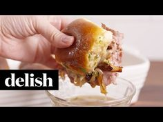 French Dip Sliders | Delish - YouTube