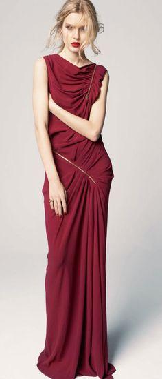 Burgundy Gown / Nina Ricci
