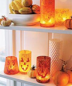 DIY Hallowen Crafts : DIY Jack-o-Lantern Votives