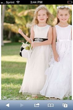 Flower girl dresses love them! 1 silver sash and 2 pale yellow sashes please! :-)