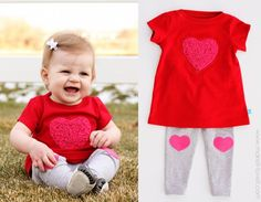 Adorable outfit for Valentines Day!  Plus tutorial!