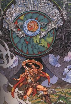 Jim Fitzpatrick - Nuada and the demon of death (1979)
