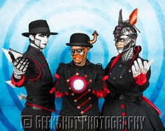 The robots of Steam Powered Giraffe. You can find this and many more official SPG prints in the GeekShot store.