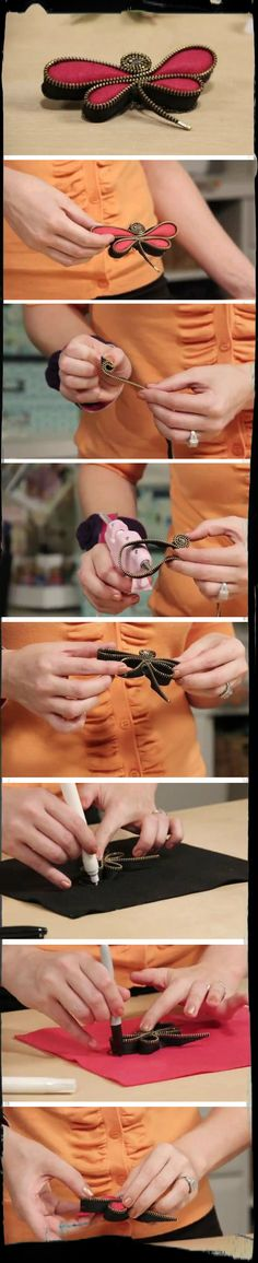Have you tried crafting with zippers? Charlene demonstrates this fun idea for making a dragonfly out of a #zipper! :)