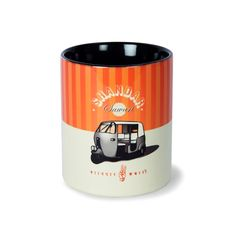 Coffee Mug with auto rickshaw, an Indian mode of transport.