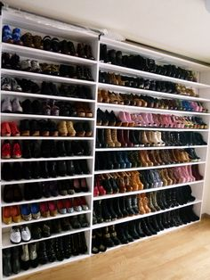I don't know who this crazy Japanese girl is with the Jeffrey Campbell shoe addiction, but I want her closet.