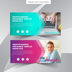 A good web banner must develop not just a strong interest in the user to . Below outline 3 tips for creating killer banner advertisements. Banner Design Inspiration, Web Banner Design, Web Banners, Template Web, Banner Template, Web Design Services, Web Design Company, Firma Email, Online Web Design