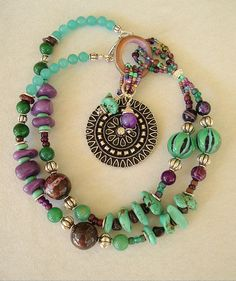 Boho Turquoise Necklace Southwest Necklace Multi by BohoStyleMe