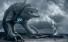 Snake monster water colossus rift video game