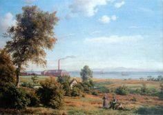 Landskabet i Hellebæk nogenlunde der hvor Sjølundsparken ved Nordre Strandvej ligger i dag