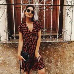 Roaming around Spain has never looked as chic as @chloehelenmiles in our floral wrap dress. Beat the heat with this #StyleHeroes essential. Tap the link in our bio to shop. #Dress #DorothyPerkins
