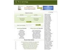 Access Genealogy:  http://www.accessgenealogy.com via @url2pin