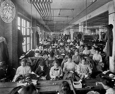Sonneborn Factory, interior with women.