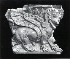 Plaque with striding sphinx Date: ca. 9th–8th century B.C. Geography: Mesopotamia, Nimrud (ancient Kalhu) Culture: Assyrian Medium: Ivory The Metropolitan Museum of Art.