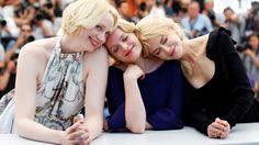 FESTIVAL: Gwendoline Christie, Elisabeth Moss og Nicole Kidman er i Cannes. Skuespillerne jobber sammen i TV-serien «Top of the Lake: China Girl».