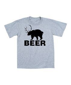 This Heather Gray 'Beer' Bear Tee - Men by Country Casuals is perfect! #zulilyfinds