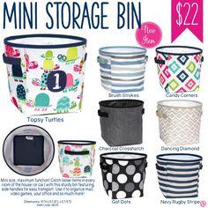 Thirty-One Mini Storage Bin - Spring/Summer 2017