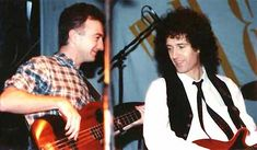 John Deacon & Brian May w The Cross (Roger Taylor) live @ London - 1988 John Deacon, Great Bands, Cool Bands, Queen Brian May, 5 September, Tiger Skin, Queen Ii, Roger Taylor, Greatest Rock Bands