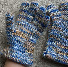 Ravelry: Men's Afghan Stitch Gloves pattern by Bernhard Ulmann / Bear Brand / Botany / Bucilla / Fleisher
