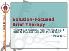 Solution-focused Brief Therapy PowerPoint Presentation