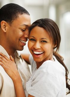 happy couple photography | Portrait of a romantic happy young African American couple enjoying ...
