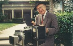 Bob McCormack outside the McFarlin mansion, home to Bob McCormack Studio from 1969-2008.