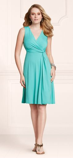 Mint For The Beach: Soma Side Twist Dress in Ocean #LoveSoma