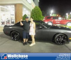#HappyAnniversary to Tod Salin on your 2013 #Dodge #Challenger from Tommie Cantrell at Wolfchase Chrysler Jeep Dodge!