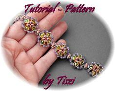 Beading tutorial for beaded bracelet Gunda by Tiszi. by Tiszi
