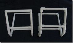 R&R crafts makes a nice pvc needlework lapstand available in small or large sizes. I found the small large enough as anything bigger, I'd be moving the project my floor stand. I don't want som...