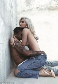 'Happy birthday baby!' Kylie Jenner celebrates boyfriend Tyga's big day on Saturday by posting a very racy snap of the pair