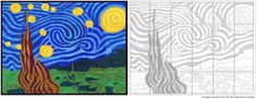 Love this site for art. This pic is of a wall mural to do with an entire class. Only $5!