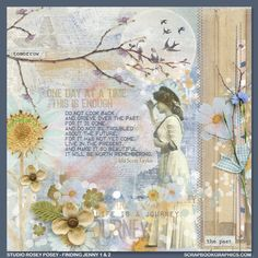 One day at a time...  Post Note Quotes to inspire you from Scrapbookgraphics.
