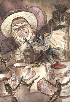its a mad, mad, mad, mad tea party. Comic Art