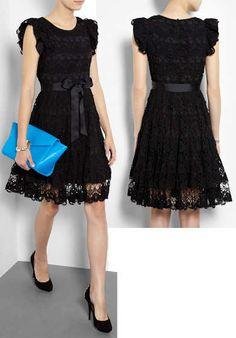 Red Valentino Black Lace dress