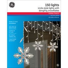 ge holiday classics icicle style lights dangling snowflakes packaging snowflake decorations christmas