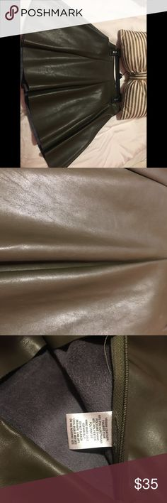 Skirts faux leather from SAKS Fifth Avenue ‼️‼️‼️ Great looking👌👌 skirts, olive color🌺🌺🌺 Bottoms Skirts