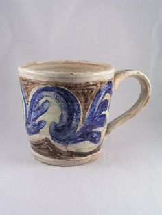 Mug, circa 1950, potted by Quentin Bell, decorated by Vanessa Bell
