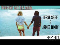 Photoshoot with Kris Holman. James Bixby and Jesse Sage model on Siesta Key Beach.