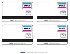 Blank Printable Diva Credit Card Thank You Cards - Coolest Free Printables