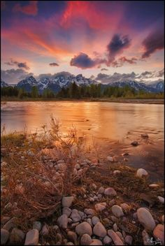 Teton Sunset    I love sunsets and on vacation will get up early to see the sun rise, most beautiful time of the day