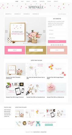 Sprinkle blog theme - so cute!