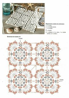 40 Best Ideas For Crochet Coasters Table Runners Doily Patterns Crochet Motif Patterns, Crochet Borders, Square Patterns, Crochet Diagram, Crochet Chart, Crochet Squares, Crochet Granny, Crochet Designs, Crochet Table Runner