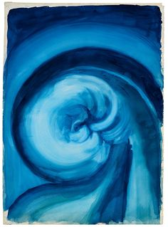 Georgia O'Keeffe (1887–1986),  Blue I, 1916.  Watercolor on paper, 30-4/8 x 22-1/4 inches.