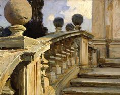 A Balustrade by John Singer Sargent