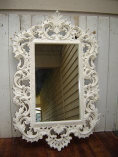 Ornate French Country White Romantic by WendysVintageShop on Etsy