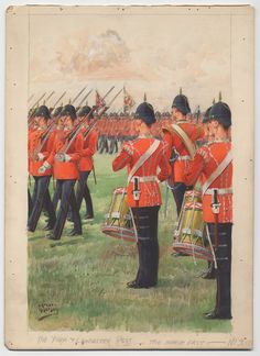 The York & Lancaster Regt.: the march past 1900 Red Coats, British Uniforms, Military Uniforms, Napoleonic Wars, Edwardian Era, British Army, Armed Forces, Lancaster, Great Britain