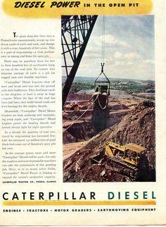1947 Caterpillar Cat Diesel Tractor Pennsylvania Coal Mine Ad   eBay