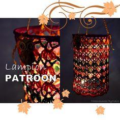 Free crochet pattern for lantern by haken en meer Crochet Winter, Crochet Home, Love Crochet, Crochet For Kids, Diy Crochet, Crochet Books, Crochet Lampshade, Yarn Crafts, Diy Crafts